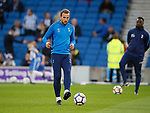 Harry Kane of Tottenham warms up during the premier league match at the Amex Stadium, London. Picture date 17th April 2018. Picture credit should read: David Klein/Sportimage