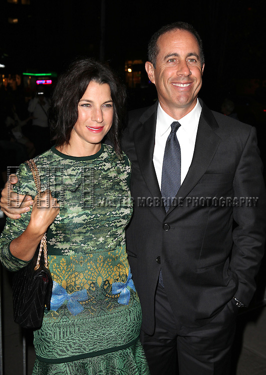 Jessica Seinfeld & Jerry Seinfeld attending the Opening Night Performance of the Roundabout Theatre Production of  'If There Is I Haven't Found It Yet' at the Laura Pels Theatre in New York City on 9/20/2012.