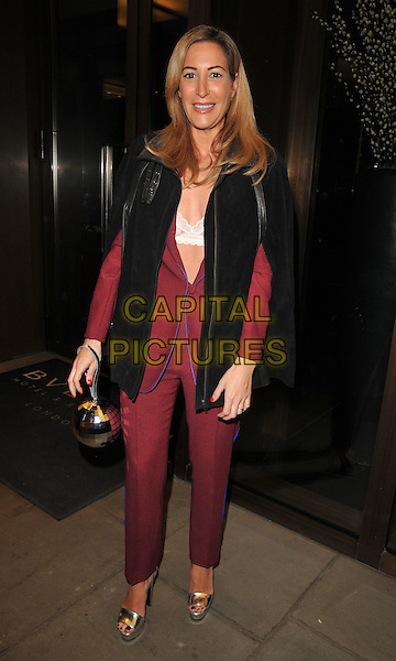 Laura Pradelska at the Glass Magazine 7th Anniversary Dinner, Bulgari Hotel, Knightsbridge, London, England, UK, on Wednesday 25 January 2017.<br /> CAP/CAN<br /> &copy;CAN/Capital Pictures