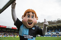 Bodger the Wycombe Mascot during the Sky Bet League 2 match between Wycombe Wanderers and Oxford United at Adams Park, High Wycombe, England on 19 December 2015. Photo by Andy Rowland.