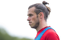 Gareth Bale during Wales national team training at Vale Resort, Hensol, Wales on 4 September 2017, ahead of the side's World Cup Qualification match against Moldova. Photo by Mark  Hawkins.