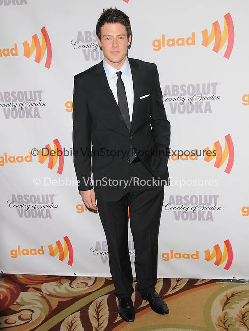 Cory Monteith at the 21st Annual GLAAD Media Awards held at The Hyatt Regency Century Plaza in Century City, California on April 17,2010                                                                   Copyright 2010  DVS / RockinExposures