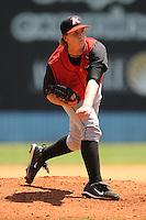Ian Gac #33 First Baseman Kannapolis Intimidators (White Sox) May 23, 2010 Photo By Tony Farlow/Four Seam Images..