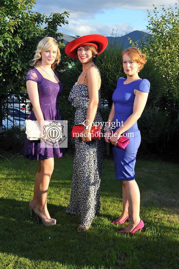 Pictured at the Randles Hotel, Elegance & Decadence Après Race Partyon Thursday evening were Martina Breen, Finola Long and Aine O'Donoghue from Killarney who won 'Ken Boylan' makeup on the evening..Picture by Don MacMonagle..PR photo from Randles Hotel