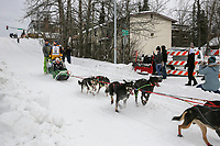 Andy Pohl on Cordova St. hill during the Anchorage start day of  Iditarod 2018<br /> <br /> Photo by Trent Grasse /SchultzPhoto.com  (C) 2018  ALL RIGHTS RESERVED