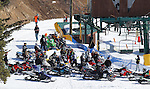 LEAD, S.D. -- April 5, 2014 -- The 2014 Lead-Deadwood Hill Cross snowmobile event at Ski Mystic Deer Mountain drew more than a hundred riders from the area Saturday.  The competitors were participating in over 20 classes. (Photo by Dick Carlson/Inertia)