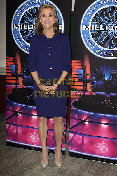 MEREDITH VIEIRA.Disney/ABC Television Group Press Junket held At The ABC Television Network Building, Burbank, California, USA..May 15th, 2010.full length blue dress .CAP/ADM/KB.©Kevan Brooks/AdMedia/Capital Pictures.