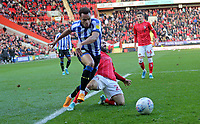 Jacob Murphy of Sheffield Wednesday goes down in the box penalty given during Charlton Athletic vs Sheffield Wednesday, Sky Bet EFL Championship Football at The Valley on 30th November 2019