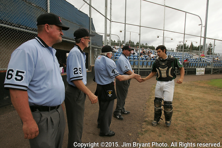 Washington vs. SCA in game 4 of the 2015 West Central District 2 BLBB playoffs at Blue Jacket Stadium in Silverdale Washington. ©2015. Jim Bryant photo. All Rights Reserved.