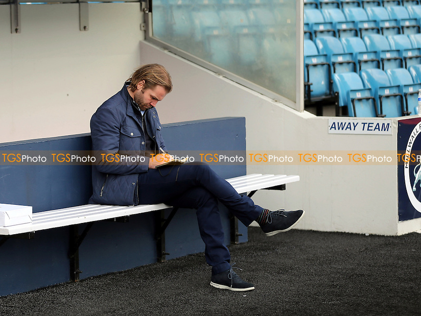 MK Dons Manager, Robbie Neilson, pre-match during Millwall vs MK Dons, Sky Bet EFL League 1 Football at The Den on 4th March 2017