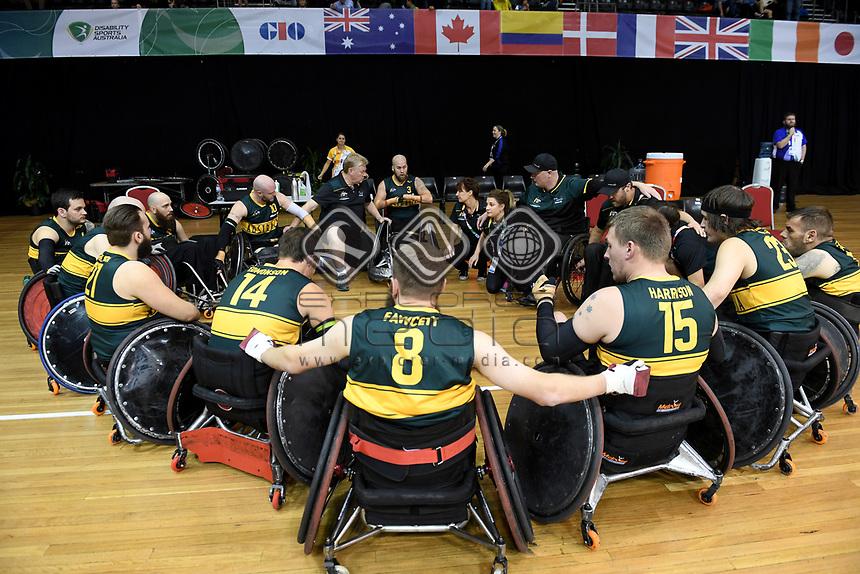 Ryley Batt (Best WC 3.5)  leads Australia in grand final against Japan / Aus 61 - Jpn 62<br /> Australian Wheelchair Rugby Team<br /> 2018 IWRF WheelChair Rugby <br /> World Championship / Finals<br /> Sydney  NSW Australia<br /> Friday 10th August 2018<br /> © Sport the library / Jeff Crow / APC