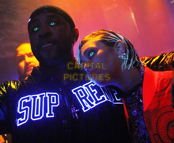LOS ANGELES, CA - JUNE 30: Mike Will Made It &amp; Miley Cyrus attend the &quot;Drinks On Us&quot; video shoot at Sound Nightclub in Hollywood, California. June 30, 2015. Credit: Walik <br /> CAP/MPI/RTNGOS<br /> &copy;RTNGOS/MPI/Capital Pictures