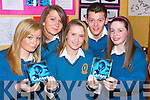 CONGEE: A CD of Dance Music was the project of Mercy Mounthawk Students Berni O'Flaherty, Hazel McMahon, Amy Quirke, Colin Horgan and Rachel O'Shea, at the Kerry County Enterprise Boards' Annual Student Enterprise Awards on Tuesday.    Copyright Kerry's Eye 2008