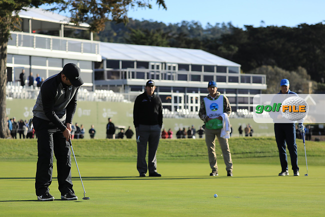 Paul Casey (ENG) in action during the final round of the AT&T Pro-Am, Pebble Beach Golf Links, Monterey, California, USA. 11/02/2019<br /> Picture: Golffile   Phil Inglis<br /> <br /> <br /> All photo usage must carry mandatory copyright credit (© Golffile   Phil Inglis)