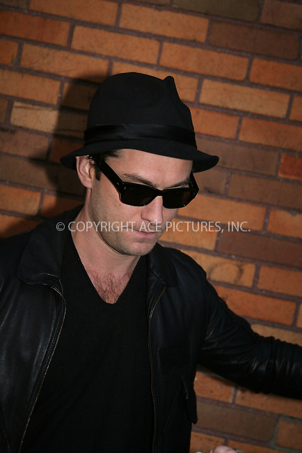 WWW.ACEPIXS.COM . . . . .  ....EXCLUSIVE - ALL ROUNDER....Actor Jude Law seen leaving a TV studio on the Upper West Side of Manhattan on March 16 2010 in New York City....Please byline: PHILIP VAUGHAN - ACE PICTURES.... *** ***..Ace Pictures, Inc:  ..Philip Vaughan (212) 243-8787 or (646) 679 0430..e-mail: info@acepixs.com..web: http://www.acepixs.com