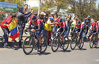 TUNJA - COLOMBIA, 11-02-2020: Equipo INEOS (GRB) durante la primera etapa del Tour Colombia 2.1 2020 con un recorrido de 16,7 km CRE, que se corrió con salida y llegada enTunja, Boyacá. / Team INEOS (GRB) during the first stage of 16,7 km TTT of Tour Colombia 2.1 2020 that ran with start and arrival in Tunja, Boyaca.  Photo: VizzorImage / Darlin Bejarano / Cont