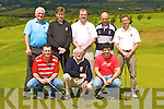 Competing in John Geaney Captain's day in Castleisland Golf course on Sunday was front row l-r: Niall Greaney, John Geaney, Jason McCarthy. Back row: Jer Walsh, Sean Sullivan, Tim Hartnett, Roland Janssen and Joe Flaherty.