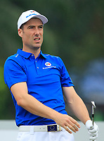 Ross Fisher (Europe) on the 2nd tee during the Friday Foursomes of the Eurasia Cup at Glenmarie Golf and Country Club on the 12th January 2018.<br /> Picture:  Thos Caffrey / www.golffile.ie