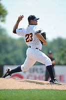 Trenton Thunder pitcher Manny Banuelos (23) during game against the Binghamton Mets at ARM & HAMMER Park on July 27, 2014 in Trenton, NJ.  Trenton defeated Binghamton 7-3.  (Tomasso DeRosa/Four Seam Images)
