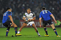 Jonathan Joseph of Bath Rugby in possession. European Rugby Champions Cup match, between Leinster Rugby and Bath Rugby on January 16, 2016 at the RDS Arena in Dublin, Republic of Ireland. Photo by: Patrick Khachfe / Onside Images