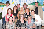 ENJOYABLE: Enjoying the Murder Mystery in aid of ADAPT at The Manor West Hotel, Tralee, on Friday night..Front l-r: Karen and Betty Dillon, Grainne and Geraldine O'Mahony and Jane O'Donoghue. Back l-r: James Browne,.Marie O'Donnell, Thomas O'Mahony, Philomena Moriarty, Paul Dee, Catherine Gayson and David Clarke