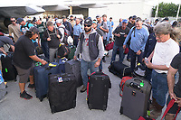 Eric Silagy greeting the PGE mutual assistance crew at PBI airport in West Palm Beach, Fla. on September 8, 2017.