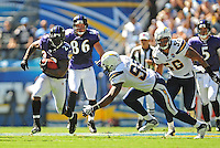Sep. 20, 2009; San Diego, CA, USA; Baltimore Ravens running back (23) Willis McGahee against the San Diego Chargers at Qualcomm Stadium in San Diego. Baltimore defeated San Diego 31-26. Mandatory Credit: Mark J. Rebilas-