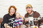 Enjoying the coffee morning in aid of the Kerry Down Syndrome shop at the coffee eating public house in the Abbey Inn on Tuesday morning were l-r Rachel Fitzgerald, Peppi Fitzgerald and Ronan Redican