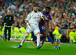 Real Madrid CF's Karim Benzema and FC Barcelona's defense Samuel Umtiti competes for the ball during La Liga match. Mar 01, 2020. (ALTERPHOTOS/Manu R.B.)