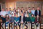 Mayor of Tralee ,Jim Finucane,seated centre,seated with the Kerry contingent who are travelling to Sydney,Australia on November 30th to take part in the International childrens games at their gathering in the Ballygarry house hotel prior to their departure last Friday night.