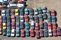 Auto Schrottplatz: EUROPA, DEUTSCHLAND, SCHLESWIG- HOLSTEIN,  (EUROPE, GERMANY), 20.04.2009: Abwrackpraemie, Umweltpraemie,  aerial photo, aerial photography, aerial picture, aerial view, Altmetall, Autohalde, Autorecycling, Autowracks, DEU, Deutschland, Germany, Luftaufnahme, Luftbild, Luftfotografie, overview,  Recycling,  Schrott, Schrottplatz, Schrottverwertung, Uebersicht, Vogelperspektive, Wiederverwertung, wreck, wrecked car, Aufwind-Luftbilder.c o p y r i g h t : A U F W I N D - L U F T B I L D E R . de.G e r t r u d - B a e u m e r - S t i e g 1 0 2, .2 1 0 3 5 H a m b u r g , G e r m a n y.P h o n e + 4 9 (0) 1 7 1 - 6 8 6 6 0 6 9 .E m a i l H w e i 1 @ a o l . c o m.w w w . a u f w i n d - l u f t b i l d e r . d e.K o n t o : P o s t b a n k H a m b u r g .B l z : 2 0 0 1 0 0 2 0 .K o n t o : 5 8 3 6 5 7 2 0 9 V e r o e f f e n t l i c h u n g  n u r  m i t  H o n o r a r  n a c h M F M, N a m e n s n e n n u n g  u n d B e l e g e x e m p l a r !.