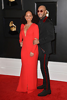 LOS ANGELES, CA - FEBRUARY 10: Alicia Keys and Swizz Beatz at the 61st Annual Grammy Awards at the Staples Center in Los Angeles, California on February 10, 2019. Credit: Faye Sadou/MediaPunch