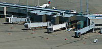 aerial photograph, gates at Louisville International Airport, Sandiford Field, SDF, Louisville, Kentucky