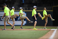 The Fly Guys of the Columbia Fireflies in a game against the Augusta GreenJackets on Friday, May 31, 2019, at Segra Park in Columbia, South Carolina. Augusta won, 8-6. (Tom Priddy/Four Seam Images)