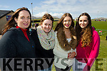 Anglea Manning, Orla Russell, Victoria Breathnach and Nicola Manning (all from Ventry), who were waiting patiently to meet the cast of Top Gear at Gallarus GAA pitch on Saturday morning last.