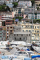Veduta del porto e del Castello di Rapallo.<br /> A view of Rapallo, with the harbor and the castle.<br /> UPDATE IMAGES PRESS/Riccardo De Luca