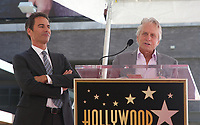 LOS ANGELES, CA - SEPTEMBER 13: Eric McCormack, Michael Douglas at the Hollywood Walk Of Fame Ceremony honoring Eric McCormack in Los Angeles, California on September 13, 2018. <br /> CAP/ADM/FS<br /> ©FS/ADM/Capital Pictures