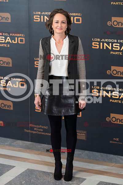 "Producer Nina Jacobson during the presentation of film ""The Hunger Games: Sinsajo Part 2"" in Madrid, Novermber 10, 2015.<br /> (ALTERPHOTOS/BorjaB.Hojas)"