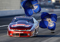 Feb 13, 2016; Pomona, CA, USA; NHRA pro stock driver Greg Anderson during qualifying for the Winternationals at Auto Club Raceway at Pomona. Mandatory Credit: Mark J. Rebilas-USA TODAY Sports