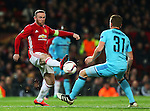 Wayne Rooney of Manchester United and Wessel Dammers of Feyenoord  during the UEFA Europa League match at Old Trafford, Manchester. Picture date: November 24th 2016. Pic Matt McNulty/Sportimage