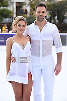 Stephanie Waring &amp; Sylvain Longchambon at the &quot;Dancing on Ice&quot; launch photocall at the Natural History Museum, London, UK. <br /> 19 December  2017<br /> Picture: Steve Vas/Featureflash/SilverHub 0208 004 5359 sales@silverhubmedia.com