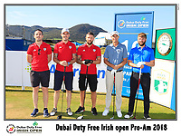 Nicolas Colsaerts (BEL) team on the 10th tee during Wednesday's Pro-Am of the 2018 Dubai Duty Free Irish Open, held at Ballyliffin Golf Club, Ireland. 4th July 2018.<br /> Picture: Eoin Clarke | Golffile<br /> <br /> <br /> All photos usage must carry mandatory copyright credit (&copy; Golffile | Eoin Clarke)