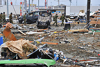 Scenes of destruction in the coastal city of Sendai after the Tsunami destroyed large parts of the north east coast of Japan on  Tuesday, 15th March, 2011. (Picture By Mark Pearson)