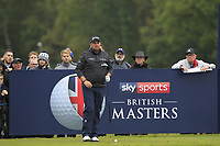 Shane Lowry (IRL) on the 2nd tee during Round 4 of the Sky Sports British Masters at Walton Heath Golf Club in Tadworth, Surrey, England on Sunday 14th Oct 2018.<br /> Picture:  Thos Caffrey | Golffile