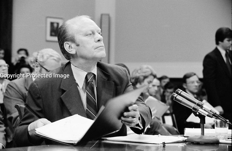 John Ford, US President, circa 1975