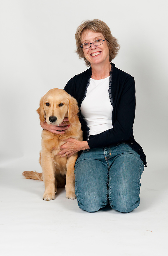 DUXBURY, MA - OCTOBER 5: Barbara O'Connor, author of The Small Adventure of Popeye and Elvis with her dog, a five month-old Golden Retriever named Ruby. (Photo by Jodi Hilton/Getty Images)