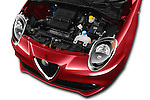 Car Stock 2016 Alfaromeo Mito Super 3 Door hatchback Engine  high angle detail view