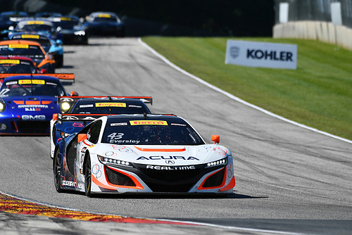 Pirelli World Challenge<br /> Grand Prix of Road America<br /> Road America, Elkhart Lake, WI USA<br /> Sunday 25 June 2017<br /> Ryan Eversley, Peter Kox<br /> World Copyright: Richard Dole/LAT Images<br /> ref: Digital Image RD_USA_00308