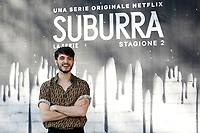 Giacomo Ferrara<br /> Rome February 20th 2019. Photocall for the presentation of the second season of the Netflix series Suburra at Casa del Cinema in Rome.<br /> Foto Samantha Zucchi Insidefoto