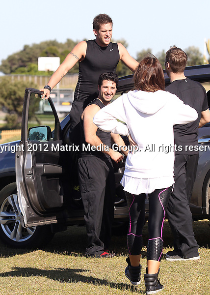 22 May 2012 Sydney, Australia..NON EXCLUSIVE..Amazing Race 2012 Celebrity Challenge with George Havadas and Dan Ewing, Kyle and Jackie O, Brian McFadden and fiance Vogue Williams.